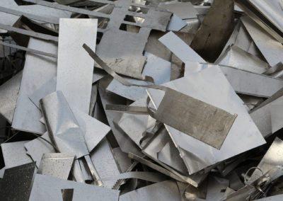 Aluminium déchet neuf blanc
